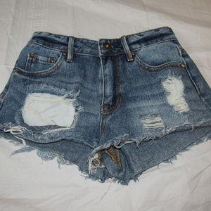 BULLHEAD High Rise Distressed Short Shorts Size 0